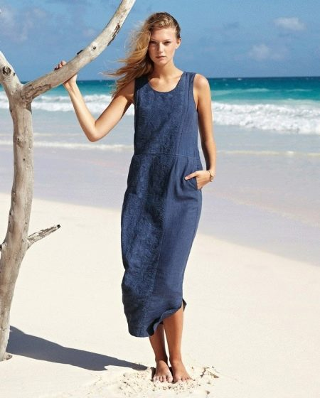 3d3a00b6d Льняные платья: платья из льна с вышивкой и кружевом, длинные и ...