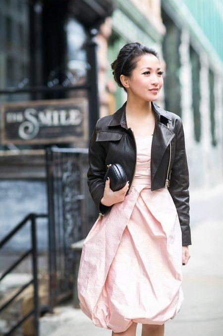 Платье-баллон с курткой