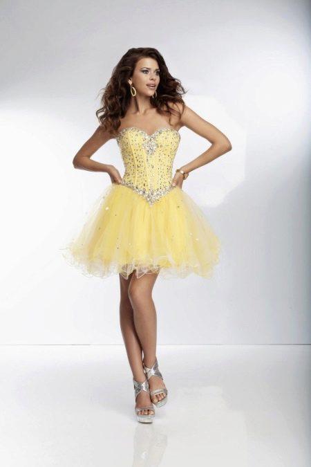 Платье бэби дол с блестящими босоножками