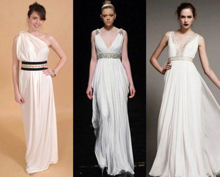 Примеры греческих платьев для беременных