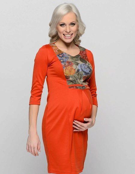 Платье-футляр для беременных своими руками