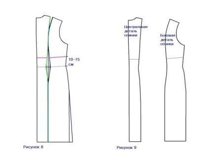 Спинка платья для беременных