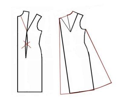 Выкройка платья-трапеции для беременных