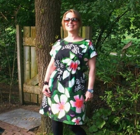 Цветное штапельное платье