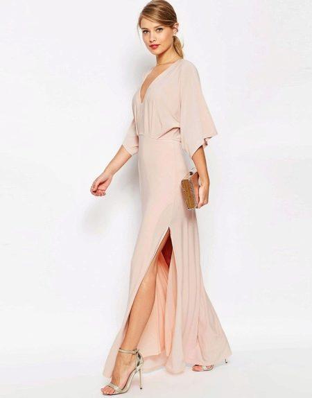 Платье-кимоно для вечернего выхода