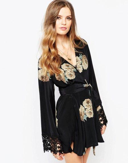 Платье кимоно для дома