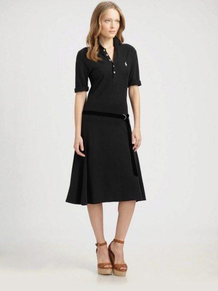Платье-поло с длиной ниже колена