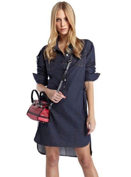 Платье-рубашка с клатчем