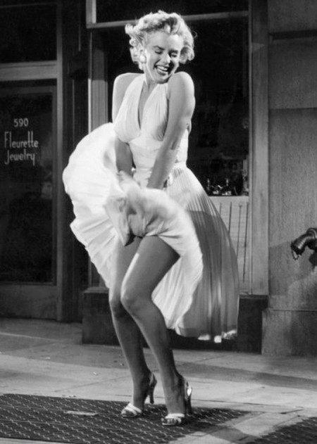 Платье Мерлин Монро с американской проймой