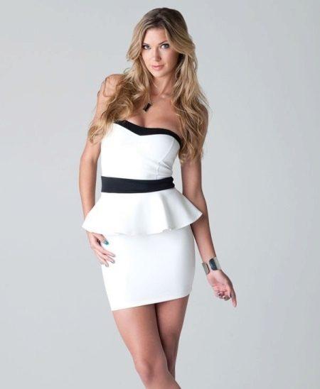 Длина платья с баской