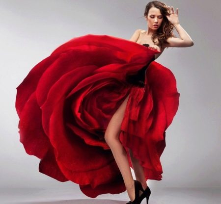 Платье-роза