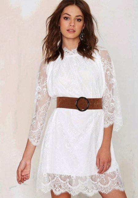 Платье с рукавом реглан и воротником стойкой