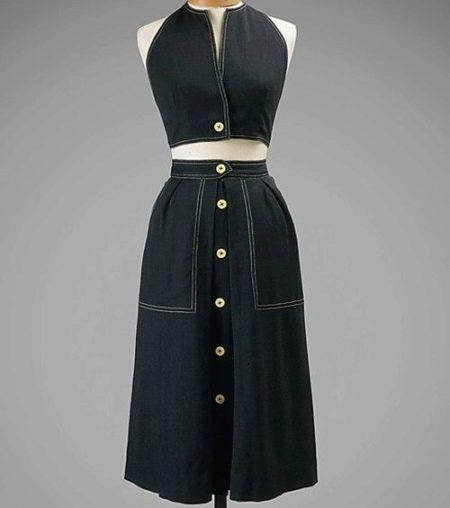 Платье с запхом из денима от Клэр Маккарделл