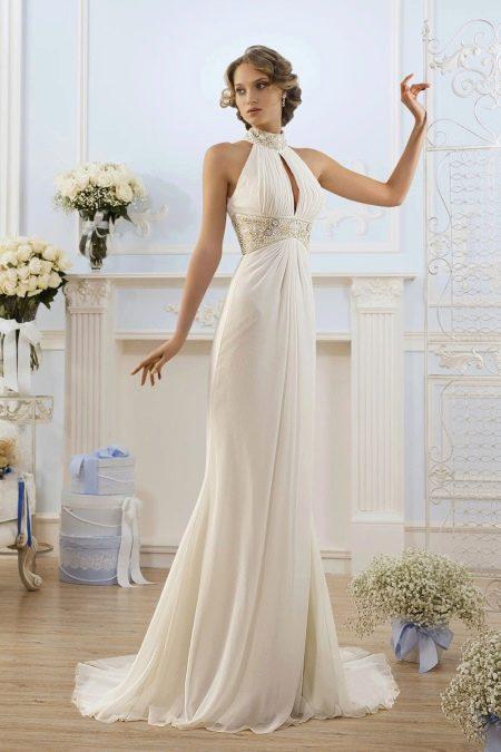 Платье в греческом стиле со шлейфом