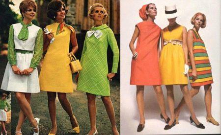 Платье трапеция 60х годов