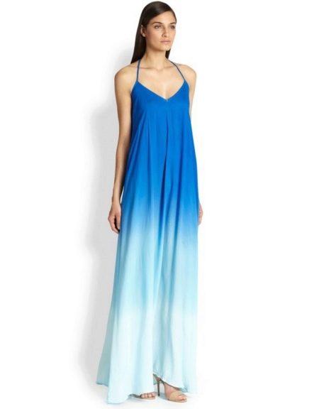 Платье трапеция с синим градиентом