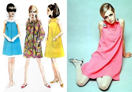 Платье трапеция - мода 60х годов
