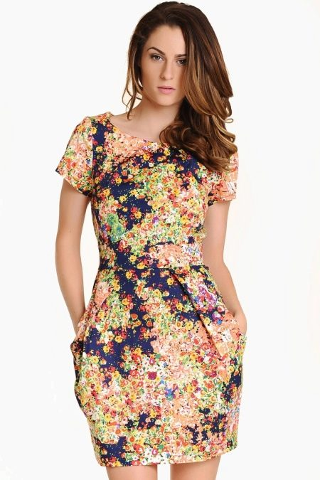 Платье-тюльпан с карманами