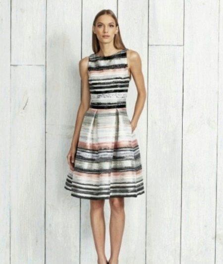 Платье ретро в морском стиле
