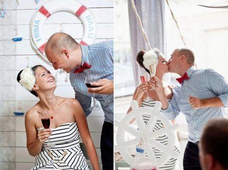 Платье в полоску свадебное