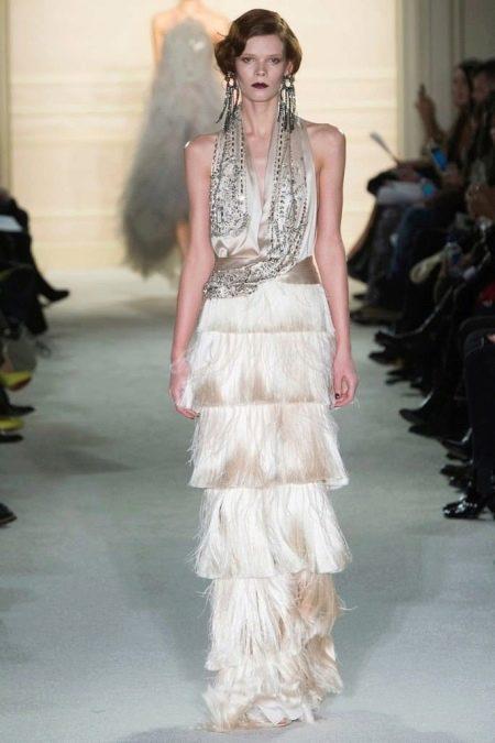 Стиль чикаго платье с бахромой и бусами