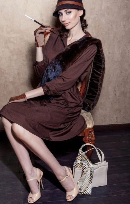 Повседневное платье в стиле 30-х деловое