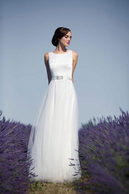 Свадебное платье в стиле Одри Хепберн в  пол