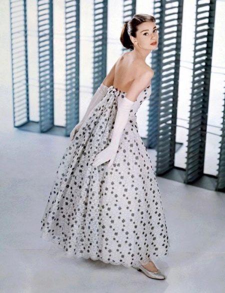 Платье Одри Хепберн а-силуэта