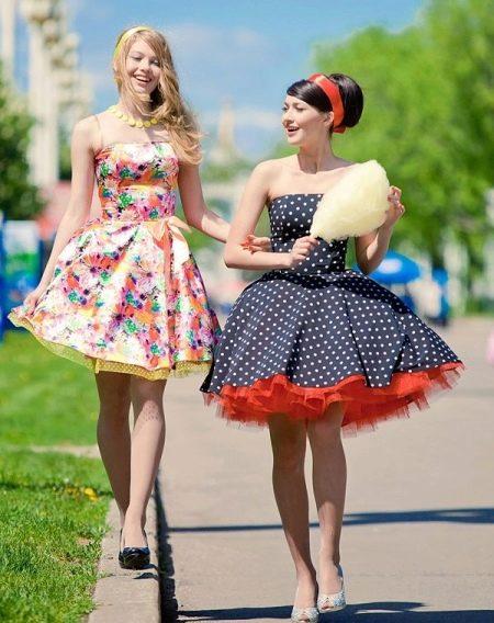 Платья в стиле стиляг пышные
