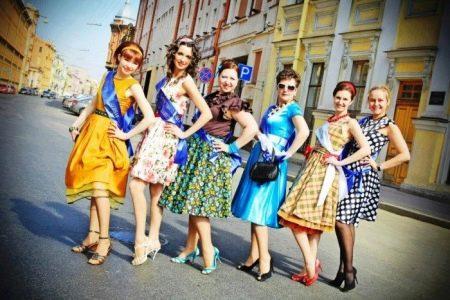 Платья на выпускной в стиле стиляг
