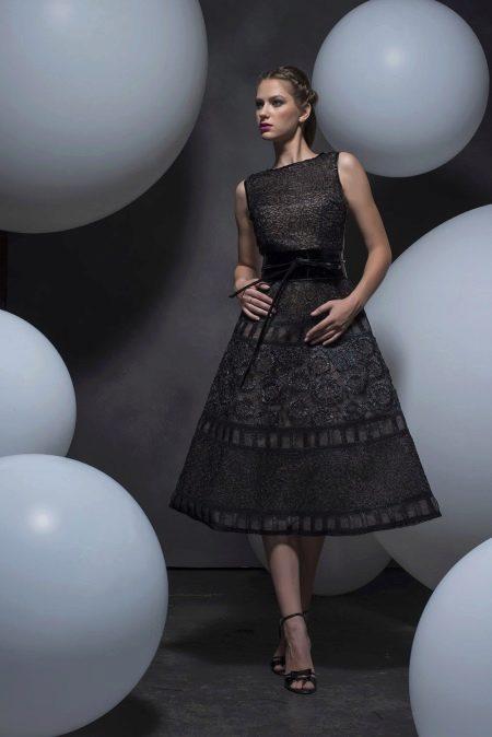 Платье в стиле стиляг серое
