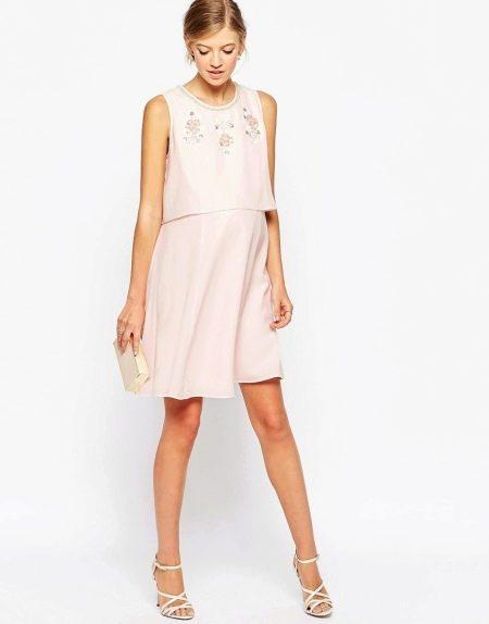 Платье для беременных с двойным эффектом топа и юбки