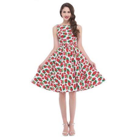 Платье в стиле 50-х для худощавых женщин