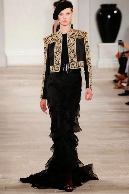 Платье с жакетом в стиле барокко