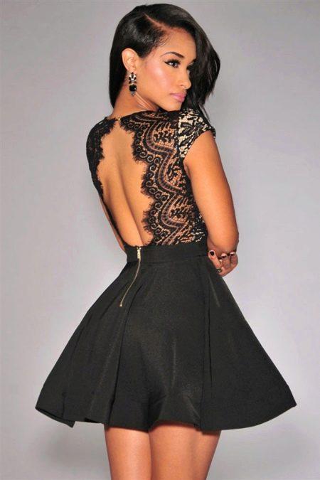 Платья с пышной короткой юбкой и открытой спиной