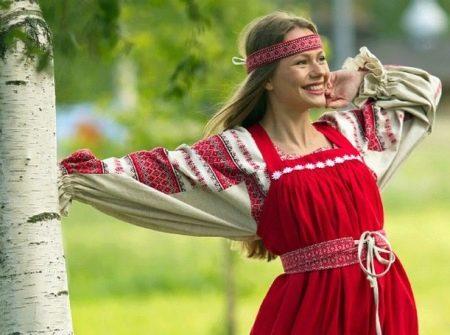 Русский современный сарафан в этническом стиле