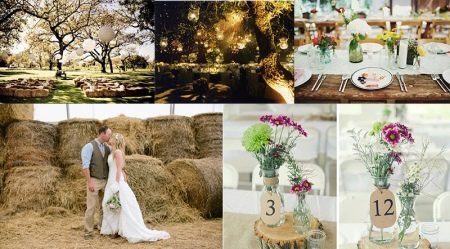 Свадьбы в стиле рустик