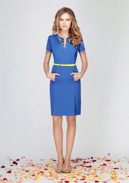Белорусское трикотажное платье синее