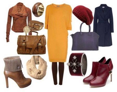 Выбор аксессуаров под желтое трикотажное платье