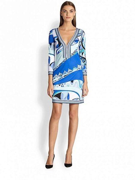 7567b8422da Трикотажное платье  с чем носить