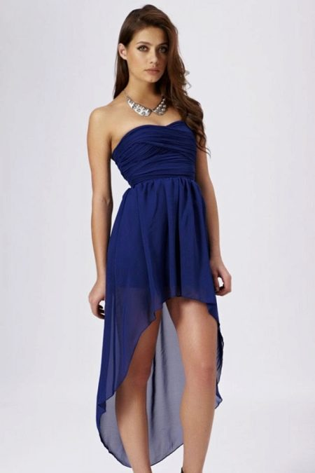 Вечернее платье для беременных короткое спереди и длинное сзади