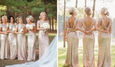 Одинаковые платья для подружек невесты