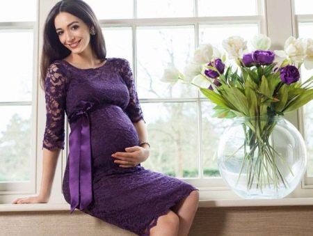 Платье для беременных весеннее кружевное