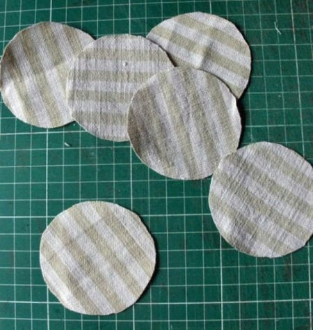 Круги для цветка из ткани