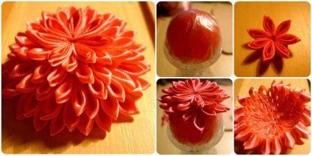 Создание выпуклого цветка казанши