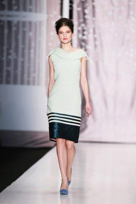 Кожаное платье белое