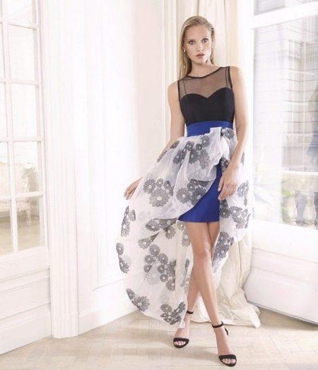 Летнее платье со съемной юбкой