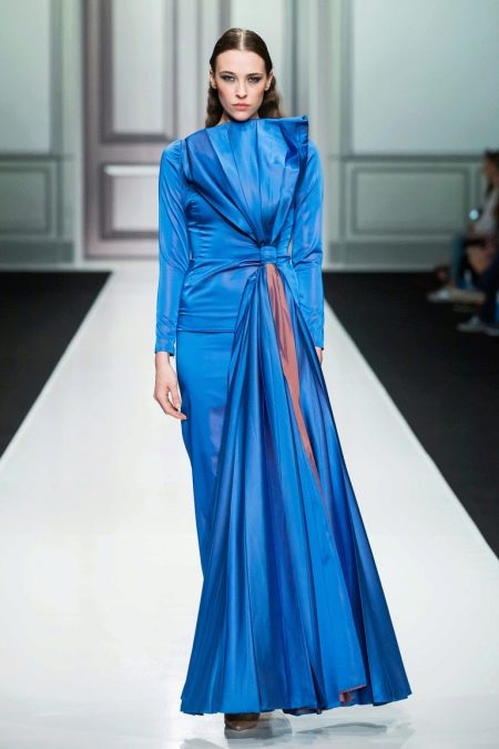 Осеннее платье длинное