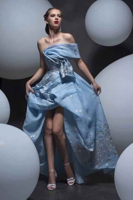 Платье без бретелей хай-лоу