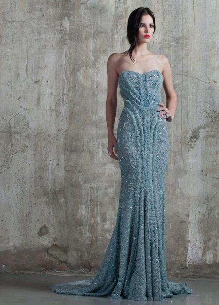 Платье без бретелей русалка